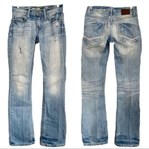 BKE Denim AIDEN Jeans Distressed Slim Fit Bootcut